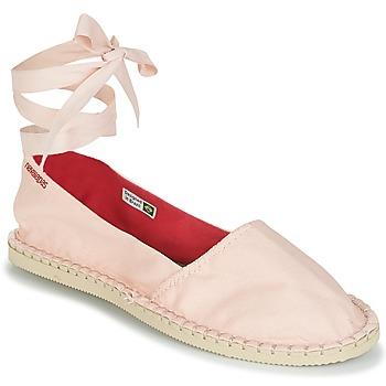 Schuhe Damen Leinen-Pantoletten mit gefloch Havaianas ORIGINE SLIM Rose