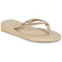 Schuhe Mädchen Zehensandalen Havaianas SLIM Beige