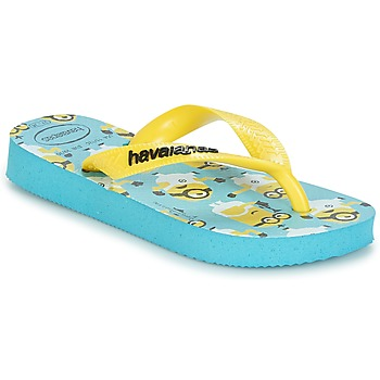 Schuhe Jungen Zehensandalen Havaianas MINIONS Blau / Gelb