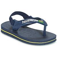 Schuhe Jungen Zehensandalen Havaianas BABY BRASIL LOGO Marine / Gelb