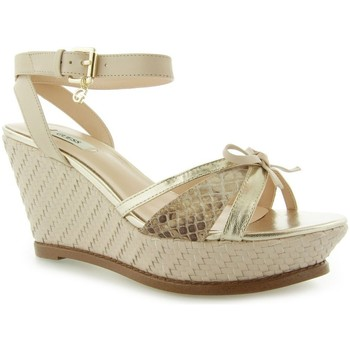 Schuhe Damen Sandalen / Sandaletten Guess HELWYN2 Zeppa Wedge Leather Nude
