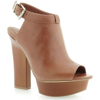Schuhe Damen Low Boots Guess Junita Spuntato Open Toe Leather