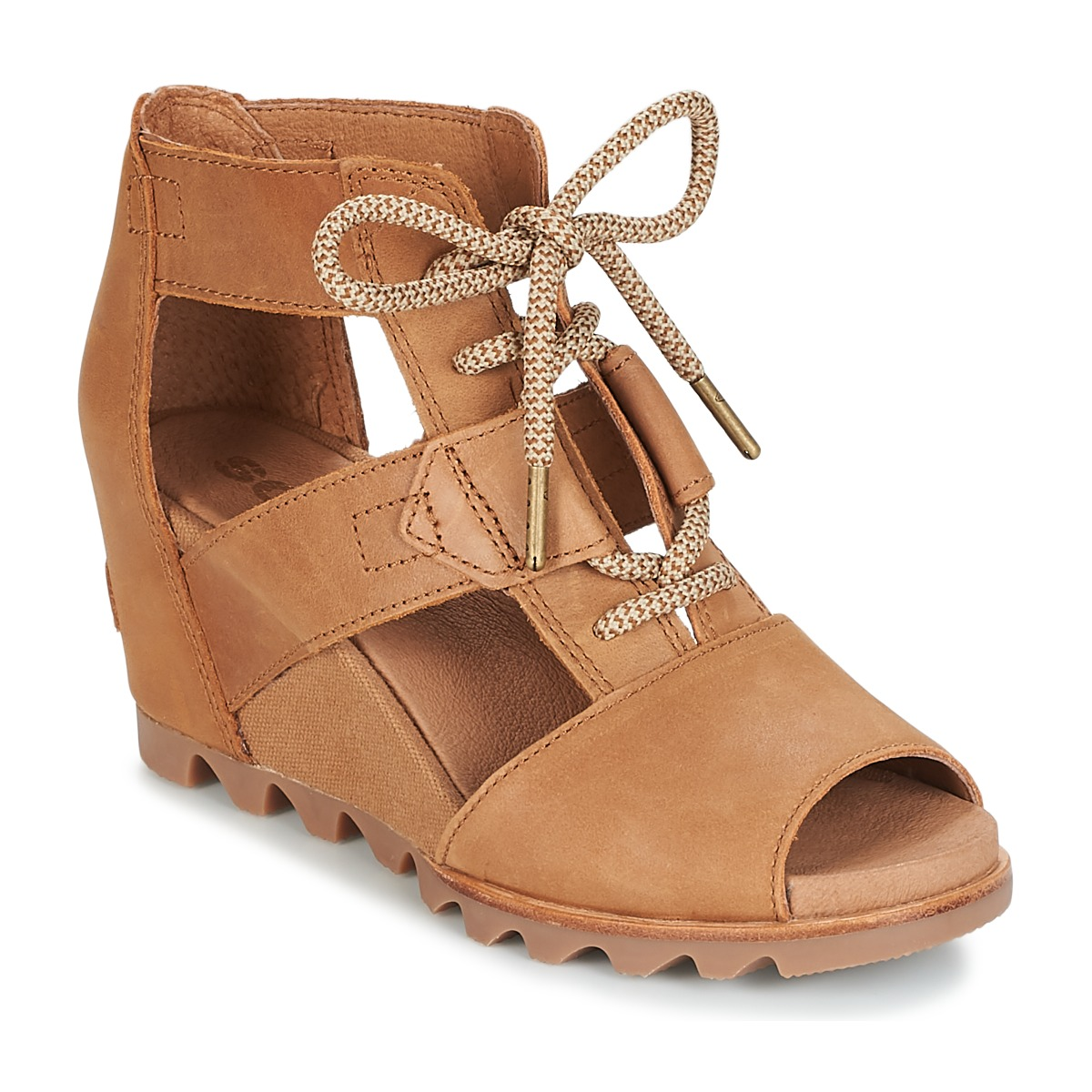 Sorel JOANIE™ LACE Braun - Kostenloser Versand bei Spartoode ! - Schuhe Sandalen / Sandaletten Damen 96,00 €
