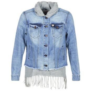 Kleidung Damen Jeansjacken Maison Scotch XAOUDE Blau / Grau