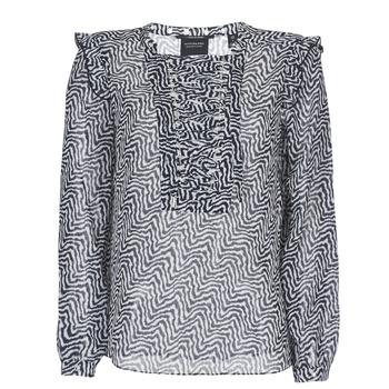 Kleidung Damen Tops / Blusen Maison Scotch OLZAKD Schwarz / Weiss