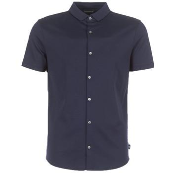 Kleidung Herren Kurzärmelige Hemden Emporio Armani BEWU Marine