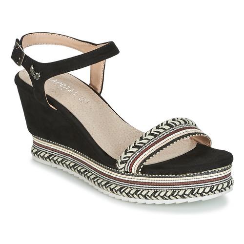 Kaporal SLYDE Schwarz  Schuhe Sandalen / Sandaletten Damen 43,99