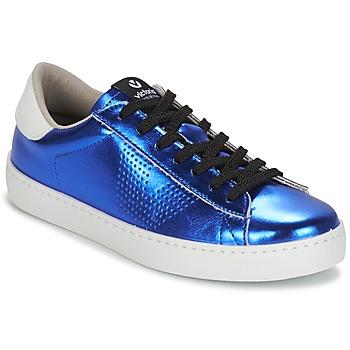 Schuhe Damen Sneaker Low Victoria DEPORTIVO METALIZADO Blau