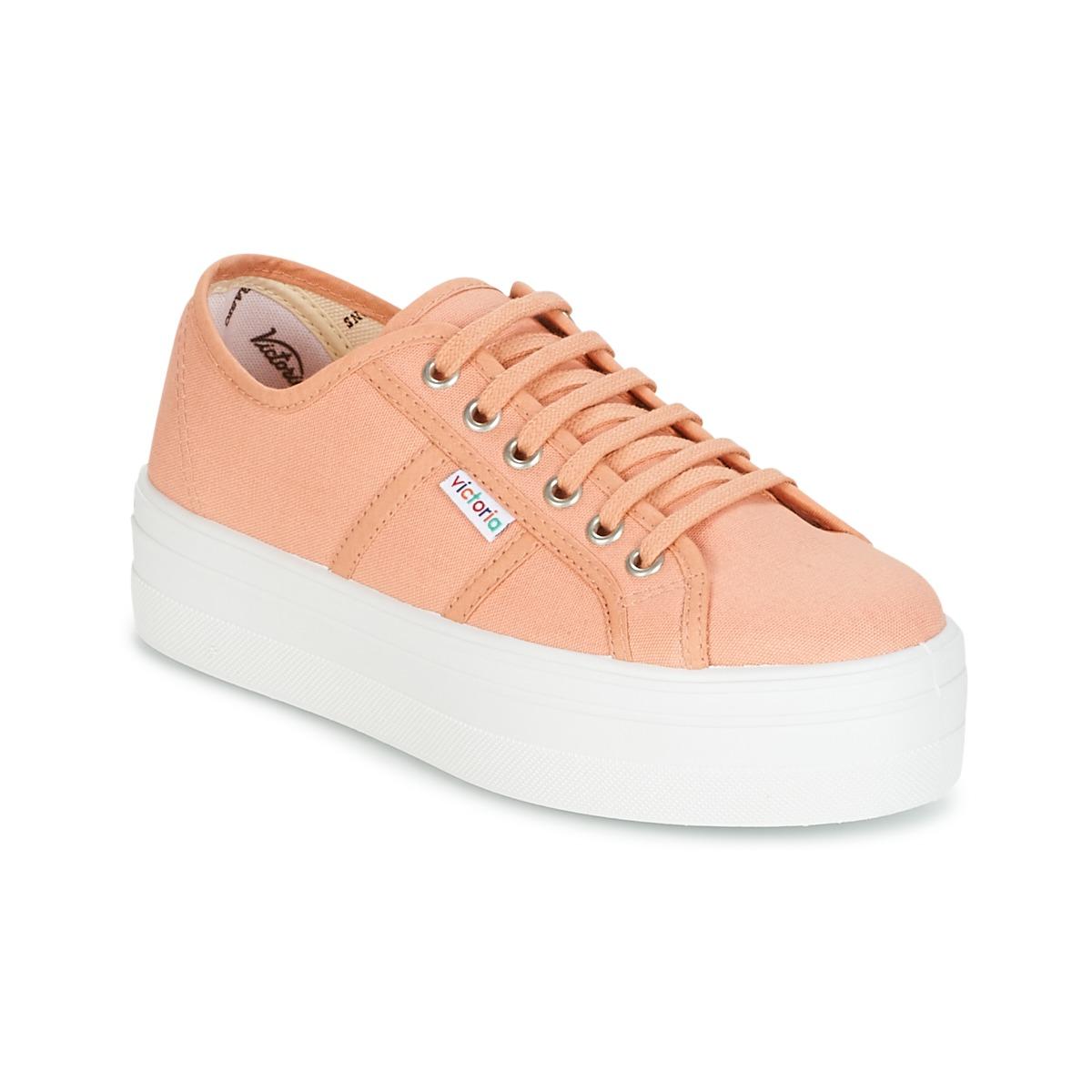 Victoria BLUCHER LONA PLATAFORMA Orange - Kostenloser Versand bei Spartoode ! - Schuhe Sneaker Low Damen 31,50 €