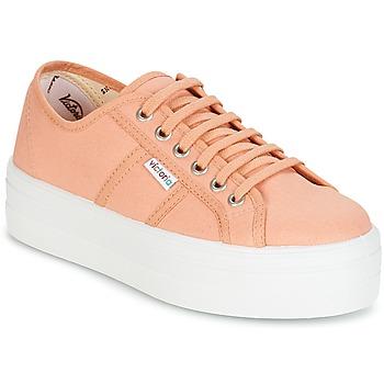Schuhe Damen Sneaker Low Victoria BLUCHER LONA PLATAFORMA Rose