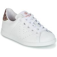 Schuhe Mädchen Sneaker Low Victoria DEPORTIVO BASKET PIEL KID Weiss