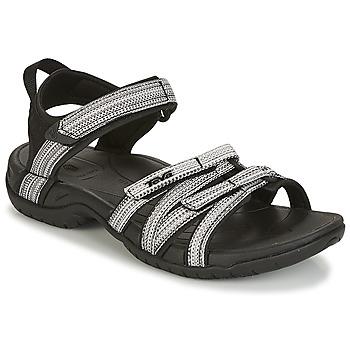 Schuhe Damen Sportliche Sandalen Teva TIRRA Schwarz / Weiss