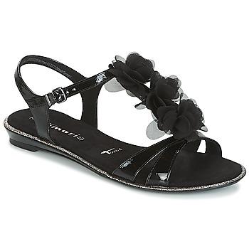 Schuhe Damen Sandalen / Sandaletten Tamaris GACAPI Schwarz