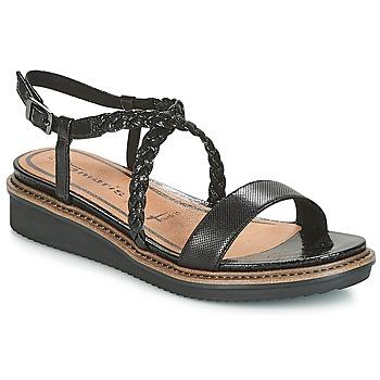 Schuhe Damen Sandalen / Sandaletten Tamaris GACAPIN Schwarz