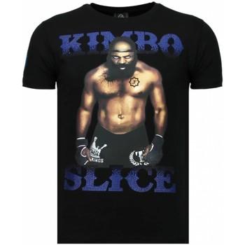 Kleidung Herren T-Shirts Local Fanatic Kimbo Slice Strass Schwarz