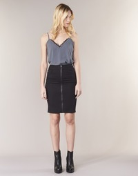 Kleidung Damen Röcke G-Star Raw LYNN LUNAR HIGH SLIM SKIRT Schwarz