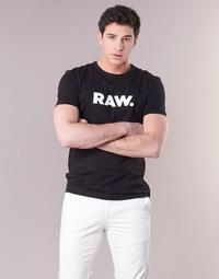 Kleidung Herren T-Shirts G-Star Raw HOLORN R T S/S Schwarz