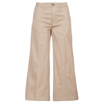Kleidung Damen Chinohosen G-Star Raw BRONSON HIGH LOOSE CHINO 7/8 WMN Beige