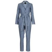 Kleidung Damen Overalls / Latzhosen G-Star Raw DELINE JUMPSUIT WMN L/S Blau / Weiss