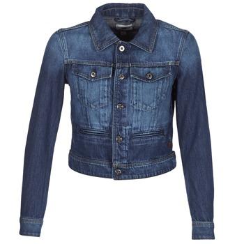 Kleidung Damen Jeansjacken G-Star Raw D-STAQ S DC DNM JKT WMN Blau