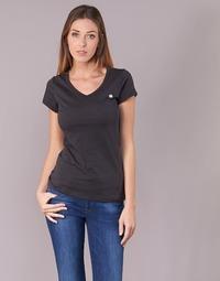 Kleidung Damen T-Shirts G-Star Raw EYBEN SLIM V T WMN S/S Schwarz