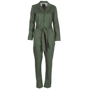 Kleidung Damen Overalls / Latzhosen G-Star Raw DELINE JUMPSUIT WMN L/S Kaki