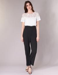 Kleidung Damen Overalls / Latzhosen Molly Bracken YURITOE Schwarz / Weiss