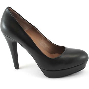 Schuhe Damen Pumps Les Venues 2000 schwarze Schuhe hochhackigen Leder dcollet Plateaus Nero