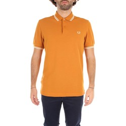 Kleidung Herren T-Shirts Fred Perry M3600 T-Shirts Mann BURNT AMBER & SNOW WHITE BURNT AMBER & SNOW WHITE