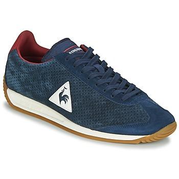 Schuhe Herren Sneaker Low Le Coq Sportif QUARTZ PERFORATED NUBUCK Blau / Rot