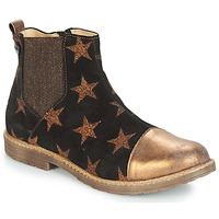 Schuhe Mädchen Boots GBB LEONTINA Schwarz / Bronze