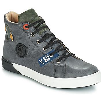 Schuhe Jungen Klassische Stiefel GBB SILVIO Nuv / Blaukariert / violett / Dpf / Evoque