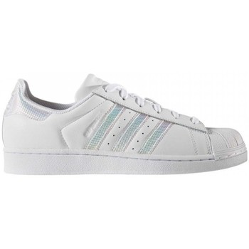 Schuhe Damen Sneaker Low adidas Originals Superstar W Blanc-pailletes