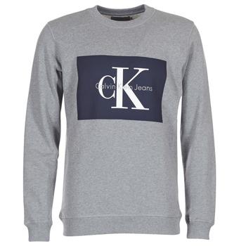 Kleidung Herren Sweatshirts Calvin Klein Jeans HOTORO REGULAR Grau