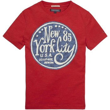 Kleidung Kinder T-Shirts Tommy Hilfiger E557129182 ROSLIN T-SHIRT Kinder LOLLIPOP LOLLIPOP