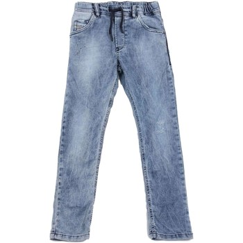 Kleidung Kinder Straight Leg Jeans Diesel KROOLEY-NE J 00J3AJ JEANS junge DENIM LIGHT BLUE DENIM LIGHT BLUE