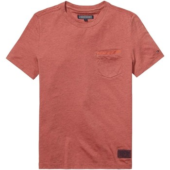 Kleidung Kinder T-Shirts Tommy Hilfiger KB0KB02950 AME POCKET T-SHIRT junge FADED ROSE FADED ROSE