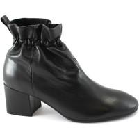 Schuhe Damen Low Boots Les Venues 6555 Buchse schwarze Schuhe gelockt elastische Haut hochhackige Nero