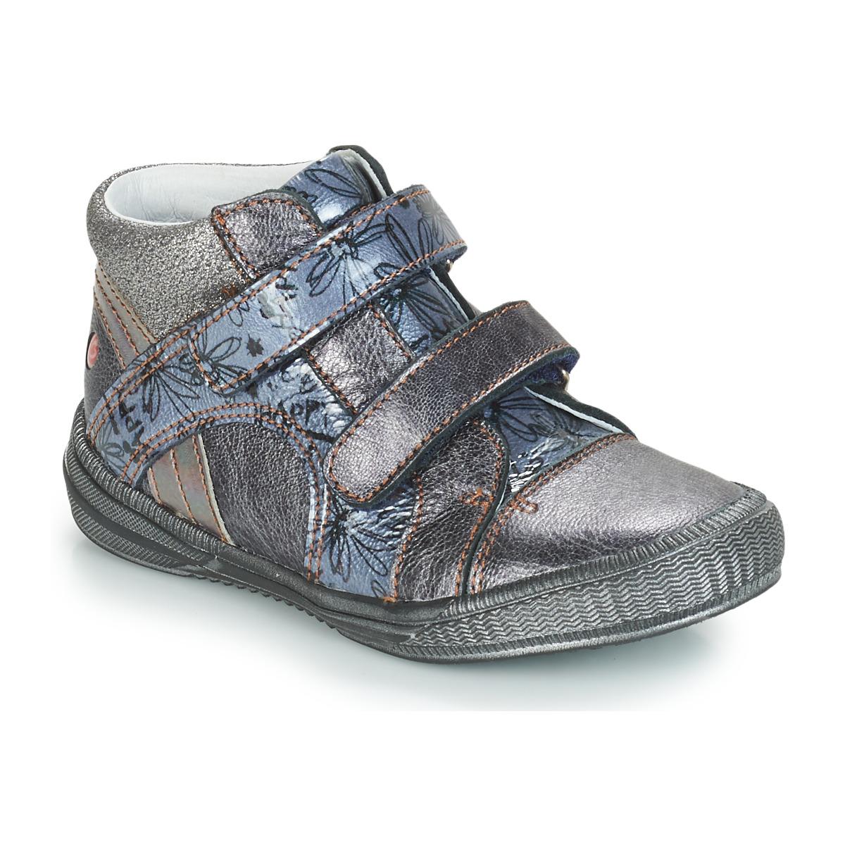 GBB ROXANE Vnv / Grau / Blau-bedruckt / Dpf / Sabina - Kostenloser Versand bei Spartoode ! - Schuhe Boots  51,00 €