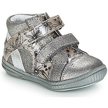 Schuhe Mädchen Boots GBB ROXANE Vct / Grau / Silber-bedruckt / Dpf / Sabina