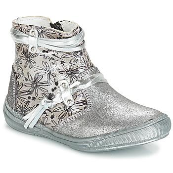 Schuhe Mädchen Klassische Stiefel GBB REVA Vct / Grau / Silber-bedruckt / Dpf / Sabina