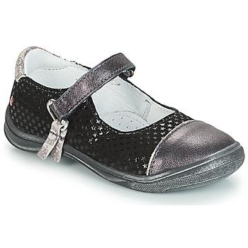 Schuhe Mädchen Ballerinas GBB RIKA Grau / Schwarz