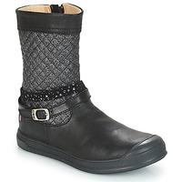 Schuhe Mädchen Klassische Stiefel GBB ROLANDE Schwarz / Dpf / Edit