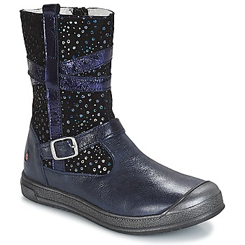 Schuhe Mädchen Boots GBB NARCISSE  marine-confetti / Dpf / Edit