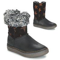 Schuhe Mädchen Klassische Stiefel GBB DUBROVNIK Schwarz / Grau