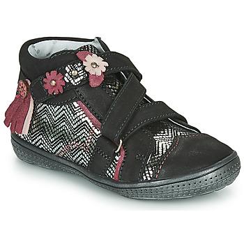 Schuhe Mädchen Boots Catimini ROQUETTE Schwarz / Silbern