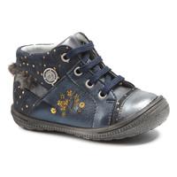 Schuhe Mädchen Boots Catimini RIKI Marine-gepunkt / Goldfarben / Dpf / 2822