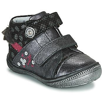 Schuhe Mädchen Boots Catimini ROSSIGNOL Grau / Silbern