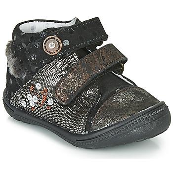 Schuhe Mädchen Boots Catimini ROSSIGNOL Schwarz / Gold