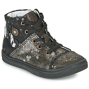 Schuhe Mädchen Klassische Stiefel Catimini ROUSSEROLLE Schwarz-kupfer / Dpf / Dolby